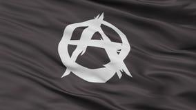 Vue de plan rapproché de drapeau de mouvement d'anarchiste Illustration Stock