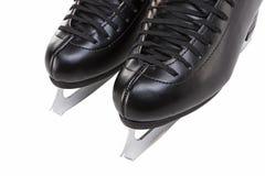 Vue de plan rapproché du chiffre patins des hommes professionnels d'isolement au-dessus de Wh Photo stock