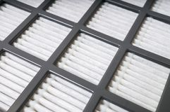 Vue de plan rapproché sur le filtre à air Concept de filtration photos stock