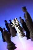 Vue de plan rapproché des échecs. Photographie stock