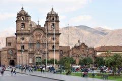 Vue de Plaza De Armas de Cusco, Pérou Photographie stock libre de droits