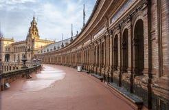 Vue de Plaza de Espana du toit plat, Séville Photos libres de droits