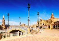 Vue de Plaza de Espana en Séville Image libre de droits