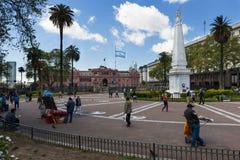 Vue de Plaza de Mayo à Buenos Aires, Argentine Photographie stock libre de droits