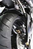 Vue de pneu arrière de motocyclette Images stock