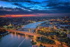 Vue de point culminant de Bangkok Photographie stock
