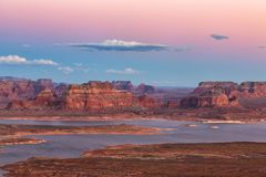 Vue de point d'Alstrom, lac Powell, page, Arizona, Etats-Unis images stock