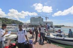 Vue de point de Jesselton, Kota Kinabalu, Sabah, Malaisie Images libres de droits