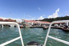 Vue de point de Jesselton, Kota Kinabalu, Sabah, Malaisie Photos stock