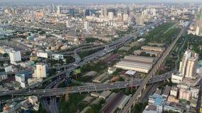 Vue de point de vue de ciel de Baiyoke banque de vidéos