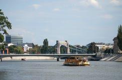 Vue de pont de Grunwaldzki Le pont ouvert le 10 octobre 1910 en présence de l'empereur Wilhelm Ii Abaissez la Silésie poland Images libres de droits