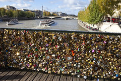 Vue de Pont des Arts à Paris Image libre de droits