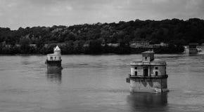 Vue de pont du fleuve Mississippi Images libres de droits