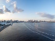 Vue de pont en arc-en-ciel, Tokyo, Japon, itinéraire du nord images stock