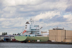 Vue de port de cargaison à Rotterdam Photos stock