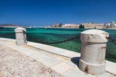 Vue de port de Favignana, Italie Images libres de droits