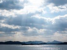 Vue de port de Sansaku Images libres de droits