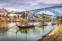Vue de Porto, rivière du Portugal photos stock
