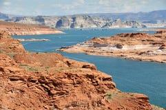 vue de powell de lac d'île d'antilope images stock