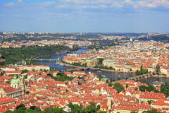 Vue de Prague d'en haut Images stock