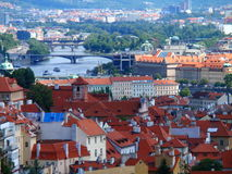 Vue de Prague, de toit et de ponts, Prague, République Tchèque Photos libres de droits