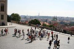 Vue de Prague du château de Prague Images libres de droits