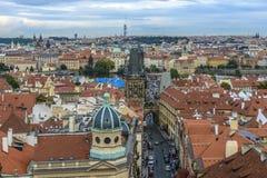 Vue de Prague et de Charles Bridge Photo stock