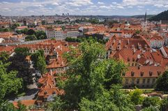 Vue de Praha Photos libres de droits