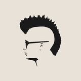 Vue de profil d'avatar d'homme Silhouette masculine de visage illustration stock