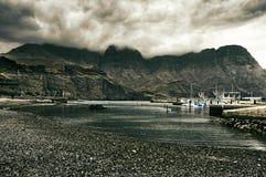 Vue de Puerto de las Nieves dans mamie Canaria, Espagne Images libres de droits