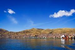 Vue de Puno du lac Titicaca, Pérou Images stock