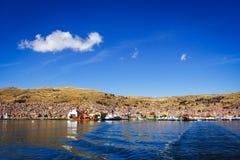Vue de Puno du lac Titicaca, Pérou Photographie stock