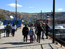 Vue de Puno, Pérou photo libre de droits