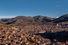 Vue de Puno par le lac Titicaca, Pérou Images stock