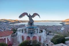 Vue de Puno par le lac Titicaca, Pérou Photographie stock libre de droits