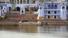 Vue de Pushkar, Ràjasthàn, Inde banque de vidéos