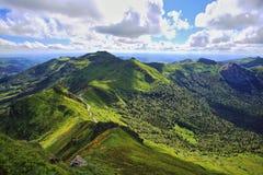 Vue de Puy de Sancy Images stock