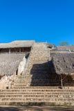 Vue de pyramide d'Ek Balam Image stock