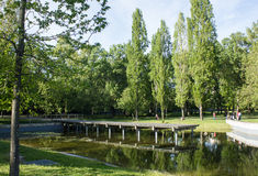 Vue de Quinta DAS Conchas (Shell Park) un parc et un jardin dans la région orientale de Lisbonne, Portugal Images stock
