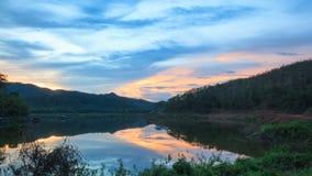 Vue de réflexion de lac Photos libres de droits