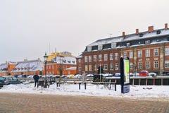 Vue de remblai à Copenhague au Danemark en hiver Photographie stock