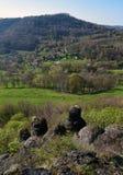 Vue de ressort de colline de Lysa Photographie stock libre de droits