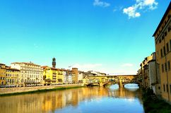 Vue de ressort de Ponte Vecchio Photo libre de droits