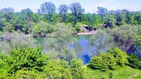 vue de ressort de rivière Images stock