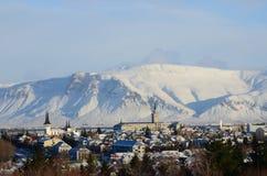 Vue de Reykjavik Image libre de droits
