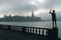 Vue de Riddarholmen à Stockholm images libres de droits