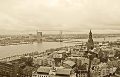 Vue de Riga, Lettonie Photographie stock libre de droits