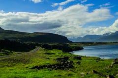 Vue de Ring Road en Islande oriental Images libres de droits