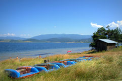 Vue de rivage de lac Batak Photos libres de droits