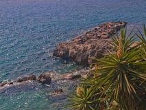 Vue de rivage vers la mer Image stock